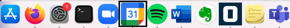 Google calendar icon in dock